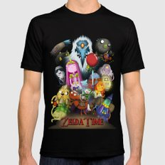 Zelda Time! Mens Fitted Tee SMALL Black