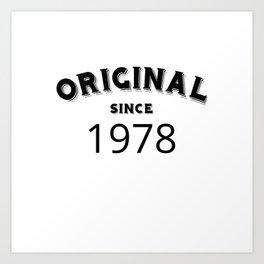ORIGINAL   1978 Birthday Shirt Art Print