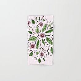 Hanging Among the Flowers & Leaves (PINK) Hand & Bath Towel