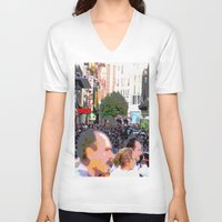 it crowd V-neck T-shirts featuring Crowd  by osile ignacio