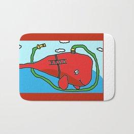 Fire truck whale Bath Mat