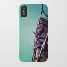 Barbed Wire Blue Slim Case iPhone X