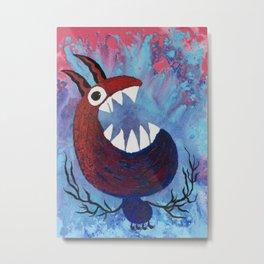 Scream #Funny creature Series Metal Print