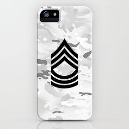 Master Sergeant (Winter Camo) iPhone Case
