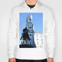 philadelphia Hoodies featuring Onward (Philadelphia) by Julie Maxwell