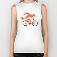 mr fox Biker Tanks featuring mr. fox by tesslucia