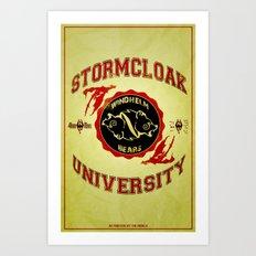 Stormcloak University(Skyrim) Art Print