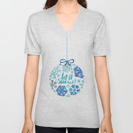 Let it snow! Unisex V-Neck