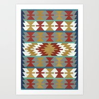 kilim Art Prints featuring kilim II by Amylin Loglisci