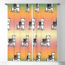 Hand  drawn llamas Blackout Curtain