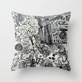 Black/White #2 Throw Pillow