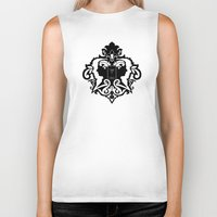 damask Biker Tanks featuring Detective's Damask by Jango Snow