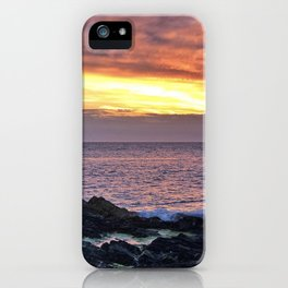 Seacape sunset iPhone Case