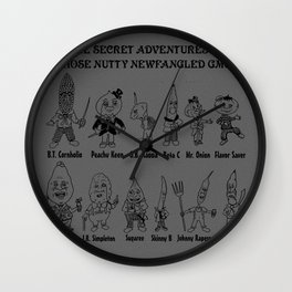 The Secret Adventures of those Nutty Newfangled GMOs (Part 2) Wall Clock