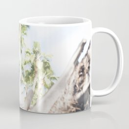 Fine Art Peacock Wildlife Animal Southern California Colored Print Coffee Mug