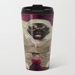 Space Pug Metal Travel Mug