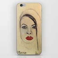 fierce iPhone & iPod Skins featuring Fierce by Darla Designs
