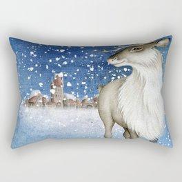 Christmas vintage deer #1 Rectangular Pillow