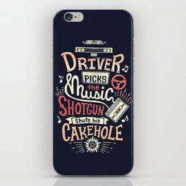 Driver picks the music iPhone Skin