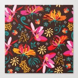 Tropical flower pattern Canvas Print
