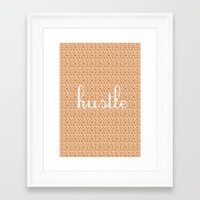 hustle Framed Art Prints featuring Hustle by Atilio