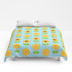 Kawaii Sunflowers Comforters