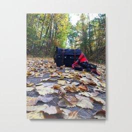 Fall Camera Still Life Metal Print