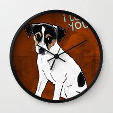 Dog: Rat Terrier Wall Clock