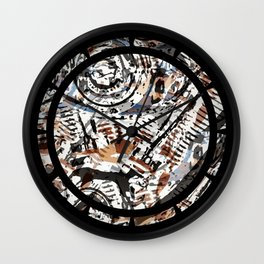 Reverse Abstract V-Twin Wall Clock