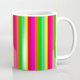 Mini Neon Hawaiian Rainbow Cabana Stripes Coffee Mug