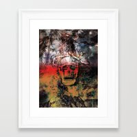 fear Framed Art Prints featuring FEAR by sametsevincer