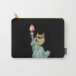 Dogecoin Statue of Liberty Rocket Carry-All Pouch