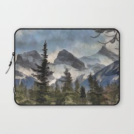 The Three Sisters - Canadian Rocky Mountains Laptop Sleeve
