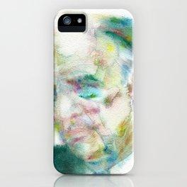 EDWARD HOPPER - watercolor portrait iPhone Case
