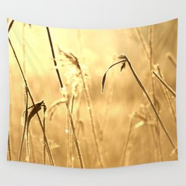 Foggy Morning With Golden Tones Wall Tapestry