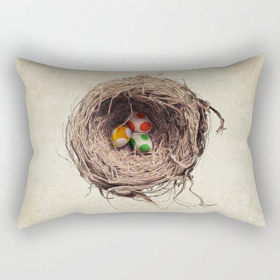 Yoshi Eggs Rectangular Pillow