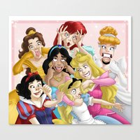 princess Canvas Prints featuring Smile for the Camera by Brianna