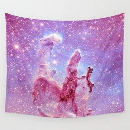 Galaxy nebula : Pillars of Creation lavender mauve periwinkle Wall Tapestry