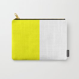 White and Yellow Vertical Halves Carry-All Pouch