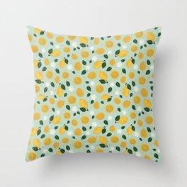 Summer Lemon Throw Pillow