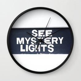 See Mystery Lights Marfa Wall Clock