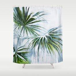 Palm and rain Shower Curtain