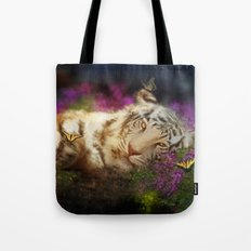 Tiger and Butterfly Tote Bag