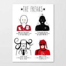 THE FREAKS Canvas Print