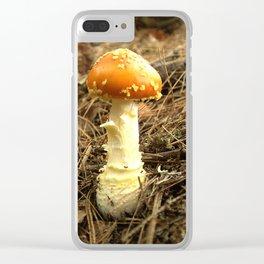 Mushroom B Clear iPhone Case
