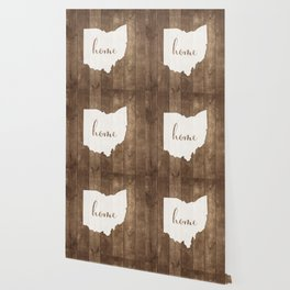 Ohio is Home - White on Wood Wallpaper