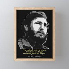 Fidel Castro Quote Framed Mini Art Print