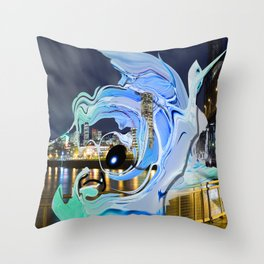 Face of the City Throw Pillow