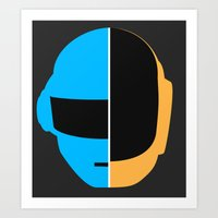 daft punk Art Prints featuring Daft Punk by Alli Vanes