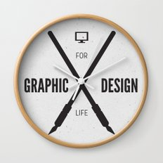 Graphic Design For Life. Wall Clock